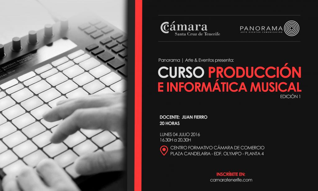 Panorama eventos_Curso de Produccion e Informatica Musical en Tenerife